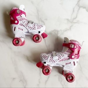 Roller Derby Pink and White Roller Skates